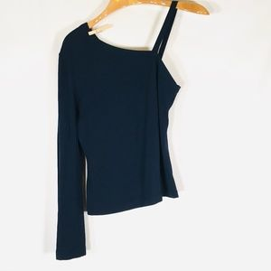 yigal Azrouel Blouse Blue Size 8 Stretchy EUC